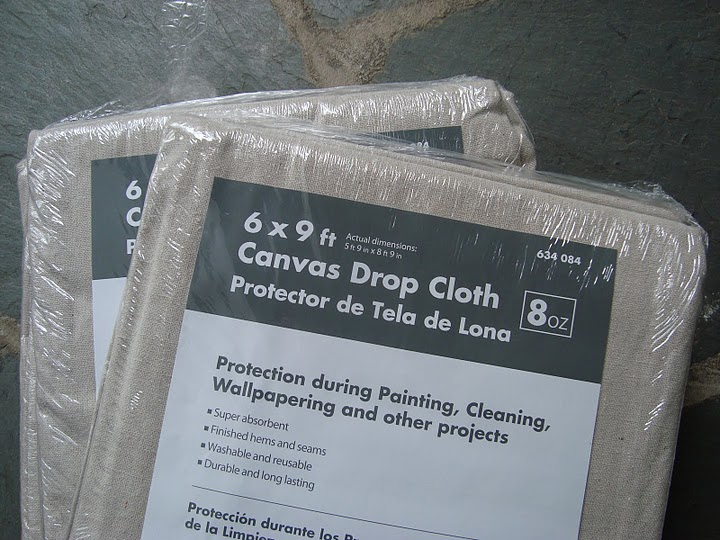 Painted drop cloth curtains - Home Depot And Picked Up Four 6 X9 Drop Cloths